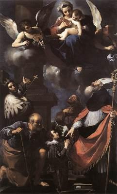 Guercino A Donor Presented to the Virgin