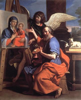 Guercino St Luke Displaying a Painting of the Virgin