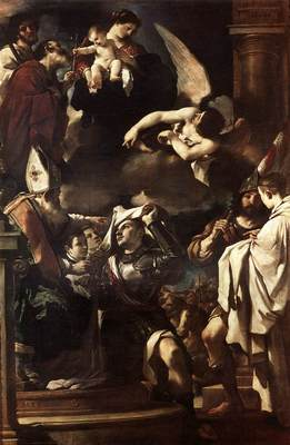 Guercino St William of Aquitaine Receiving the Cowl