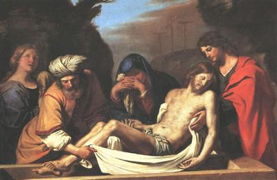 Guercino The Entombment of Christ