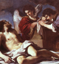 Guercino Angels Weeping over the Dead Christ