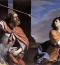 Guercino Saul Attacking David