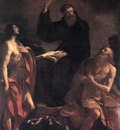 Guercino St Augustine St John the Baptist and St Paul the Hermit