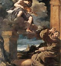 Guercino St Francis with an Angel Playing Violin