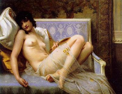 Seignac Guillaume jeune femme denudee sur canape