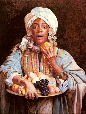 Signorini Giuseppe A North African Fruit Vendor