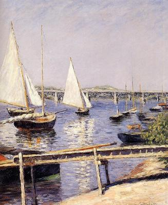 Caillebotte Gustave Sailing Boats at Argenteuil