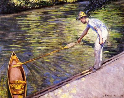 Caillebotte Gustave Boater Pulling on His Perissoire