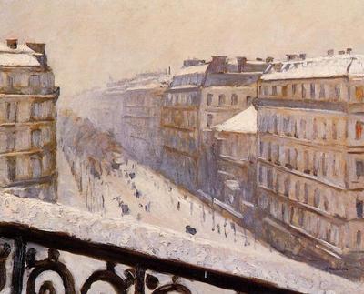 Caillebotte Gustave Boulevard Haussmann Snow