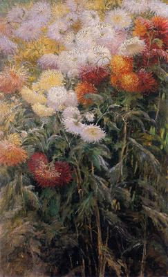 Caillebotte Gustave Clump of Chrysanthemums Garden at Petit Gennevilliers