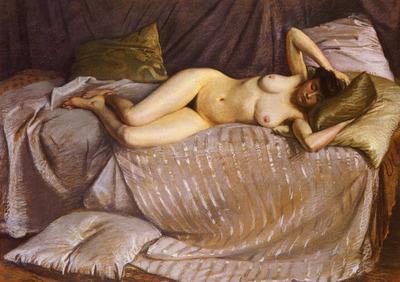 Caillebotte Gustave Femme Nue Etendue Sur Un Divan
