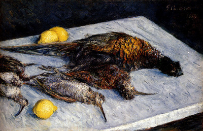 Caillebotte Gustave Game Birds And Lemons