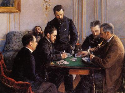 Caillebotte Gustave Game of Bezique