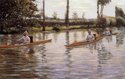 Caillebotte Gustave Perissoires sur l Yerres aka Boating on the Yerres
