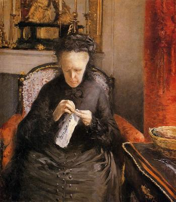 Caillebotte Gustave Portait of Madame Martial Caillebote the artist s mother
