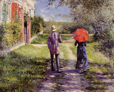 Caillebotte Gustave Rising Road