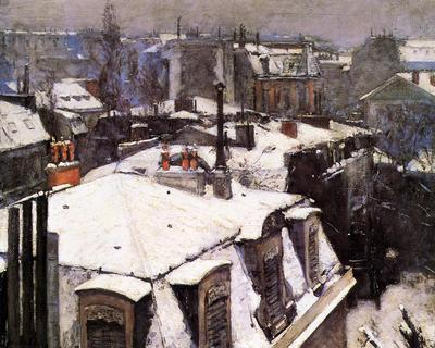 Caillebotte Gustave Rooftops Under Snow