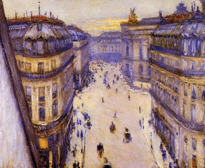 Caillebotte Gustave Rue Halevy Seen from the Sixth Floor