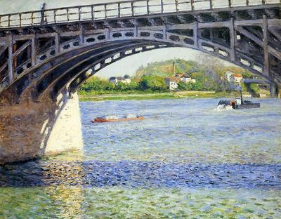 Caillebotte Gustave The Argenteuil Bridge and the Seine