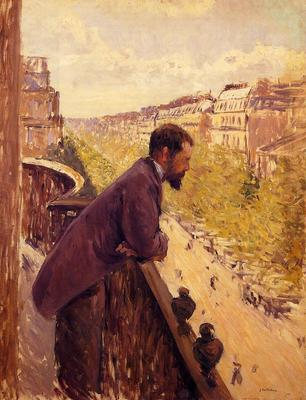Caillebotte Gustave The Man on the Balcony
