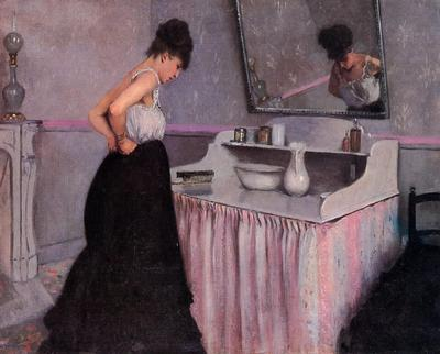 Caillebotte Gustave Woman at a Dressing Table