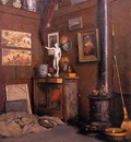 Caillebotte Gustave Interior of a Studio with Stove