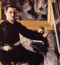 Caillebotte Gustave Self Portrait with Easel
