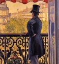 Caillebotte Gustave The Man on the Balcony2