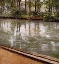 Caillebotte Gustave The Yerres Rain aka Riverbank in the Rain
