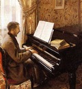 Caillebotte Gustave Young Man Playing the Piano