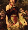 Boulanger Gustave Clarence Rodolphe The Flower Girl