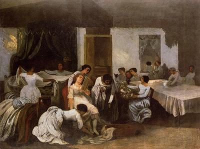 Courbet Gustave Dressing the Dead Girl Dressing the Bride