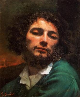 Courbet Gustave Portrait of the Artist aka Man with a Pipe