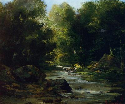 Courbet Gustave River Landscape