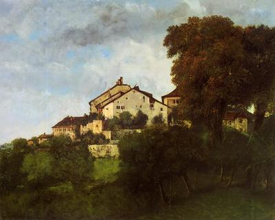 Courbet Gustave The Houses of the Chateau d Ornans