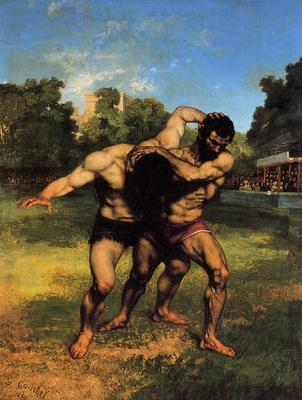 Courbet Gustave The Wrestlers