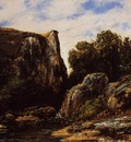 Courbet Gustave A Waterfall in the Jura