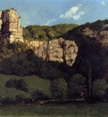 Courbet Gustave Landscape Bald Rock in the Valley of Ornans