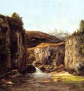 Courbet Gustave Landscape The Source among the Rocks of the Doubs
