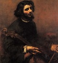 Courbet Gustave The Cellist Self Portrait