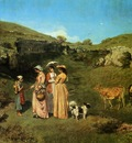 Courbet Gustave The Young Ladies of the Village