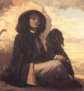 Self Portrait Courbet with a Black Dog CGF