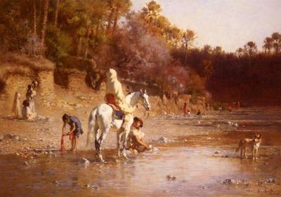 Guillaumet Gustave Achille La Riviere A El Kantara