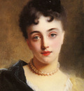 Jaquet Gustave Jean An Elegant Lady With Pearls