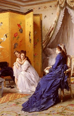 Jonghe Gustave Leonhard de Apres Le Bain