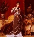 Jonghe Gustave Leonhard de Dressing For The Ball