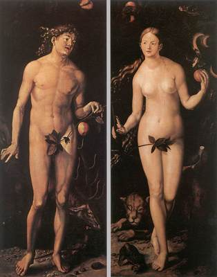 BALDUNG GRIEN Hans Adam And Eve