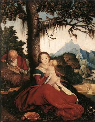 BALDUNG GRIEN Hans Rest On The Flight To Egypt