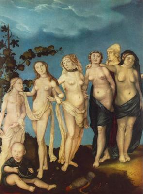 BALDUNG GRIEN Hans The Seven Ages Of Woman