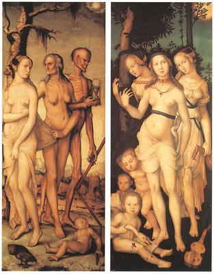 BALDUNG GRIEN Hans Three Ages Of Man And Three Graces